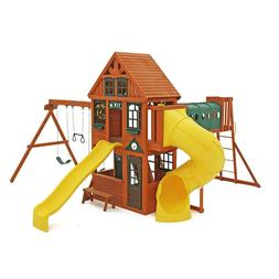 KidKraft Swing Set Orchard View Manor Playset with 2 story c