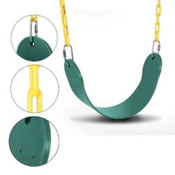 SWING SET STUFF COMMERCIAL POLYMER BELT SEAT GREEN WITH CHAI