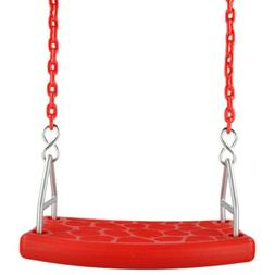 SWING SET STUFF INC. FLAT SEAT WITH 8.5 FT COATED CHAIN RED