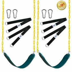 """Swings Seat with 66"""" Chain Plastic Coated ,Playground Swing"""