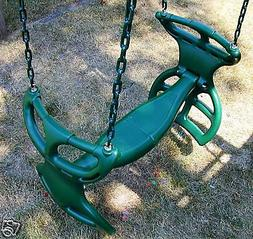 Swingset back to back glider swing, play set double glider,h