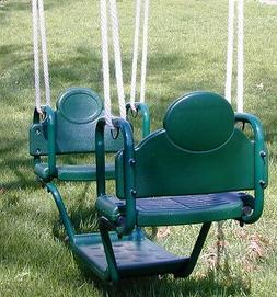 Swingset glider swing,face to face glider with brackets,play