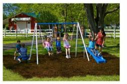 Swingset Multi Activity Fun Time Metal Play Summer Anchor UV