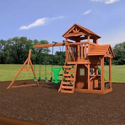 Backyard Discovery Tanglewood All Cedar Wood Playset Swing S