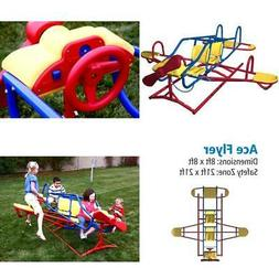 Teeter Totter For Kids Airplane Ace Flyer Seesaw Playground