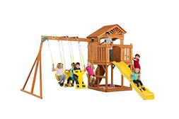 Creative Cedar Designs Timber Valley Wooden Playset with Woo