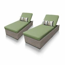TKC Oasis Patio Chaise Lounge in Green