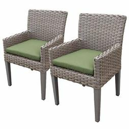 TKC Oasis Patio Dining Arm Chair in Green