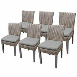 TKC Oasis Patio Dining Side Chair in Gray