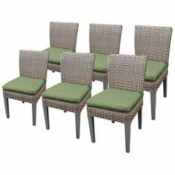 TKC Oasis Patio Dining Side Chair in Green