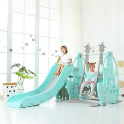 Toddler Climb In/Outdoor playground Swing Slide Set And Bask