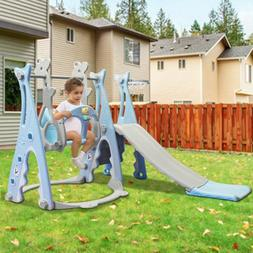 Toddler Climber & Swing Set 3 In 1 Climber Sliding Playset w