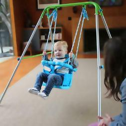 Indoor Outdoor Toddler Swing Set Fun Play Baby Toy Foldable