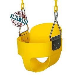 ANCHEER Toddler Swing Seat High Back Full Bucket Swing Seat