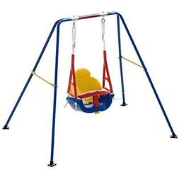 Toddler Swing Set, 3-in-1 High Back A-Frame Outdoor Chair, M