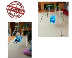 Toddler Swing Set Indoor Outdoor Play Set For Infants Foldab