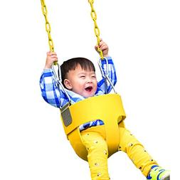 toddlers swing seat coated chain outdoor play kids high back