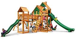 Tree House Swing Set with Amber Posts and Safe Entry Ladder