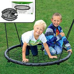 "Tree Net Swing- Giant 40"" Wide Two Person Outdoor Web Rope S"