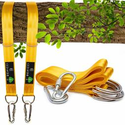 Tree Swing Straps Hanging Kit  - 10Ft Long With Two Zinc All