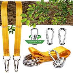 Tree Swing Straps, 2 Sets Hammock Hanging Kit Extra Long Woo