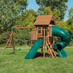 Swing-N-Slide Tremont Tower Play Set with Two Slides, Two Sw