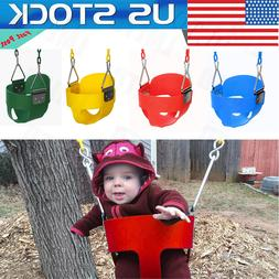USA--Full Bucket Swing Set for Toddler Baby Seat Playground