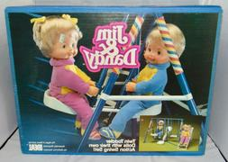 Vintage Ideal Jim & Dandy Twin Toddler Dolls With Action Swi