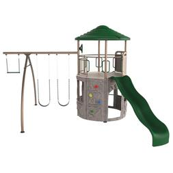 Weather Resistant Plastic Earthtone Adventure Tower 1600-lb