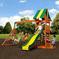 weston cedar swing set