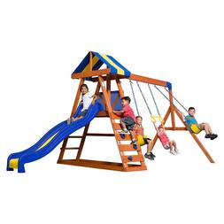 Wood Swing Set Kids Backyard Discovery Playground Slide Play