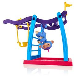 WowWee Fingerlings Playset - Monkey Bar/Swing Playground wit