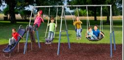 XDP Recreation Fun Forever Galvanized Steel Metal Swing Set